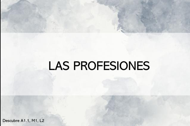 Las profesiones (actividades interactivas)